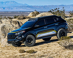 Rockstar Performance Garage, the off-road specialists, teamed up with Hyundai Motor America for the first time to inject off-road functionality and style into a 2016 Hyundai Tucson turbo