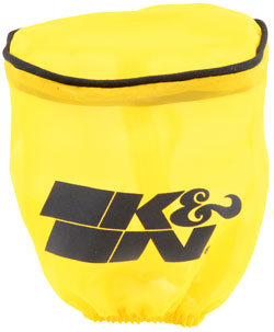 K&N Drycharger RU-1750DY is designed to repel water and manufactured with pre-treated hydrophobic yellow polyester featuring a black K&N logo screen printed on its side