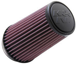 K&N RU-3130-L universal air filter with a 3.5'' flange