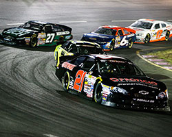 On a green-white-checkered flag restart Gracin Raz started on the bottom row in third and managed a hard charge past Chris Eggleston as well as Alex Schutte to take the lead for the win
