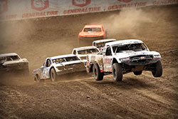 Carl Renezeder leading the field at 2016 Lucas Oil Off Road Racing Series