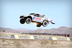 Carl Renezeder shooting flames 2016 Lucas Oil Off Road Racing Series