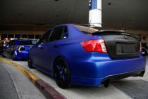 2012 SEMA holds many vehicles like this 2008 Subaru WRX