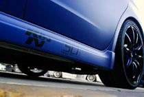 Black and Blue 2008 Subaru Impreza WRX