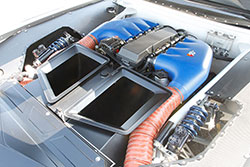 Engine bay of 1970 Chevrolet Camaro built by Roadster Shop