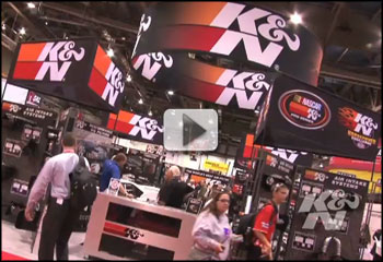 K&N Booth overview from the 2011 SEMA Show