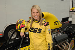Samantha Kenny got her drag racing license as a birthday present from her father