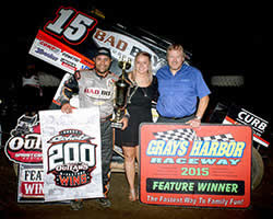 K&N Racing's Donny Schatz scoring his 200th career World of Outlaws Sprint Car Series victory at Grays Harbor Raceway