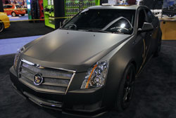 Scott Lowe's 2012 SEMA show vehicle of choice was a matte black Cadillac CTS