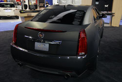 This 2012 Cadillac CTS was wrapped and ready to show just in time for SEMA 2012
