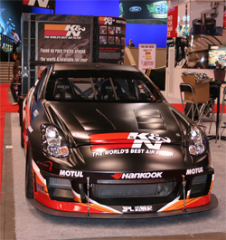 The K&N Infiniti G35 is scheduled to attend selected media events in 2010