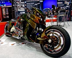 V REX on display in the K&N Booth at SEMA in Las Vegas, Nevada