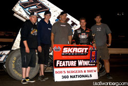 Shane Stewart pulled out his 4th victory in Knoxville driving the number 77, 360 Sprint car