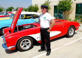 R.A Barnett and his 1958 Corvette
