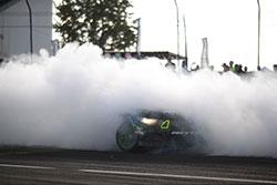 Vaughn Gittin Jr. smokes tires with 2016 900 horsepower 2016 Ford Mustang RTR