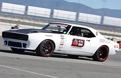 Come see the East Bay Muscle Cars Snowblind 1967 Chevy Camaro featured in the K&N Air Filters 2015 SEMA show booth, number 22561, or keep an eye out for it on an autocross track