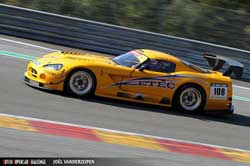 The Dodge Viper GT3, driven by Diederik Sijthoff, won both it's races at the Circuit de Spa-Francorchamps.