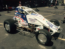 Jarrett Andretti sprint car at the Indianapolis Motor Speedway