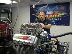 Tracy Dennis started out in the family garage, building engines and doing chassis fabrication for his father.