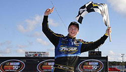 Tyler Dippel in Winners Circle at Mobile International Speedway