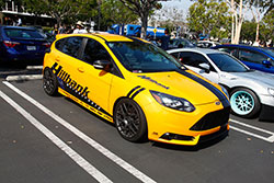 Hillbank Motor Ford Focus ST at Shutter Space Randy Higbee Gallery, Costa Mesa, California sponsored by Crooks & Castles and Super Street