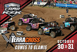 The Mystik Lubricants TerraCross Championship's Women's Class will end the season with a Halloween shootout at Polaris Camp RZR in the Glamis sand dunes on October 29-31, 2015