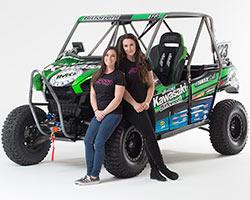 Kawasaki Teryx Girls Sara Price and Erica Sacks ready for 2016 KOH