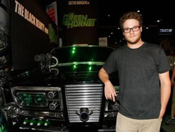 Green Hornet's Seth Rogen and his new ride.