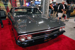 Many 2012 SEMA attendees stopped to admire the Grey 1966 Chevelle owned by Tim King