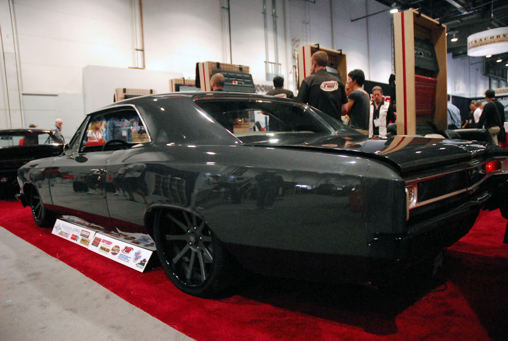 tim king and tmi products inc build 1966 chevelle for sema 2012. Black Bedroom Furniture Sets. Home Design Ideas