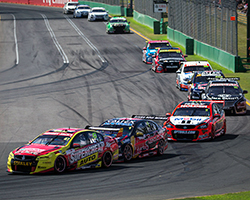 V8 Supercars is a touring car racing series in Australia originally focused on the Ford Falcon and Holden Commodore