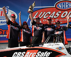 Super Comp victory at the Summit Racing Equipment NHRA Nationals at The Strip at Las Vegas Motor Speedway marked the 31st national event triumph in Phillips's career