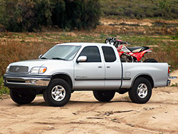 K&N Toyota T100, the 2000 Toyota Tundra truck with air intake for hauling