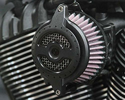 No Roland Sands Design custom bike build would be complete without K&N Performance Filters and the Track Chief features a RSD Blunt air cleaner assembly with a K&N air filter