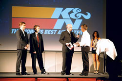 K&N receives the Tuning Theo Award 2011 for the category 'Best Brand Motor Tuning'.