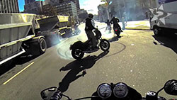 UNKNOWN rider doing burnout on street