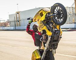 Nick Leonetti from UNKNOWN riders doing wheelie