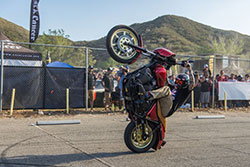 Buddy Suttle of UNKNOWN riders huge wheelie