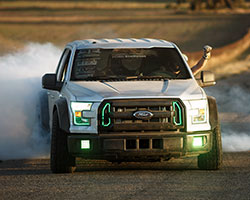 K&N drifter Vaughn Gittin Jr was inspired to build his interpretation of an ultimate fun haver capable of drifting or off-roading out of a 2015 Ford F150 3.5L EcoBoost pickup truck