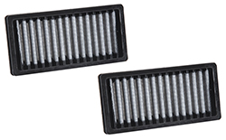 The VF1010 K&N reusable cabin air filters will help control odors and remove contaminants from entering the passenger compartment of 2011-2016 Jeep Wrangler models