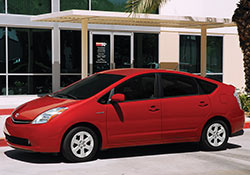 Red 2007 Toyota Prius