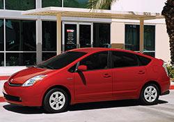 Red 2007 Toyota Prius