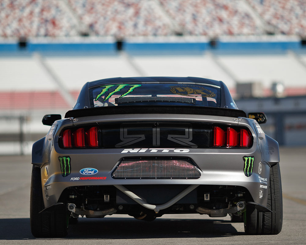 Vaughn Gittin Jr Ford Unveiled Ford Mustang Drift Car At