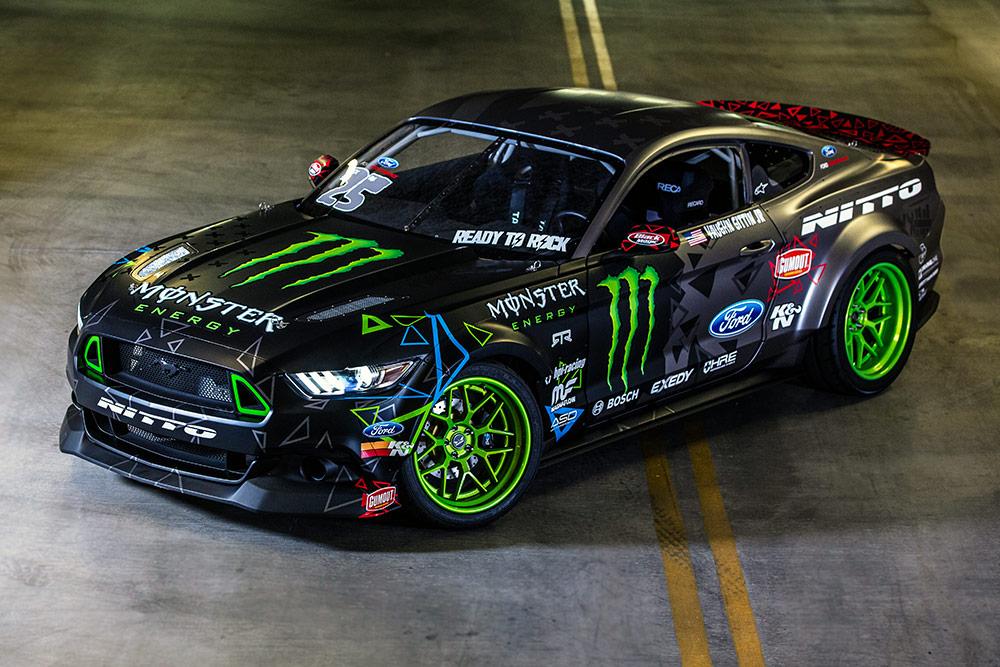 Vaughn Gittin Jr Ford Unveiled Ford Mustang Drift Car At