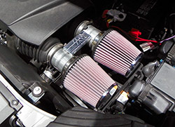 Aaron looked to a pair of K&N air filters, both number RC-9350, to provide superior airflow and superior performance to the twin turbo 2015 Ford Edge Sport