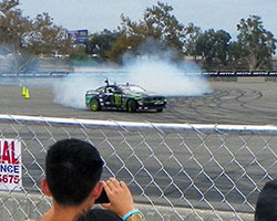 The Auto Enthusiast Day presented by Nitto Tire hosted drift demos every hour and at one point had five drivers, including Vaughn Gittin Jr, on the course at the same time