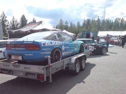 Team Falken at the 2009 Vauhiajot Rock&Race Festival in Finland