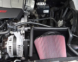 Corvette Online gave their 2015 Chevy Z51 Stingray some time to cool down following the dyno passes with a K&N air filter before moving on to the complete K&N air intake system install