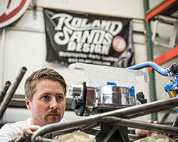 The Roland Sands Design team developed and built the chassis to cradle the Project 156 motor to race the 2015 Pike's Peak International Hill Climb