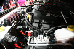 VWerks opted to use a high flow K&N air filter for their custom intake set up on this 2012 Wrangler SEMA Show vehicleion